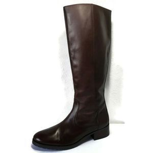 Donald J Pliner Brown Leather Zip Knee Riding Boot
